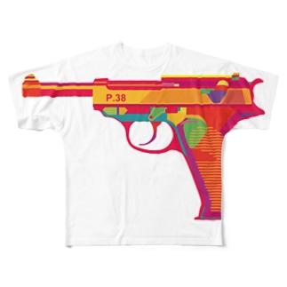 ワルサーP38 Full graphic T-shirts