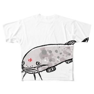デンキナマズ  Full graphic T-shirts