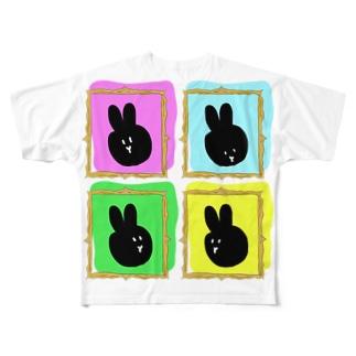 BLACK RABBIT Full graphic T-shirts