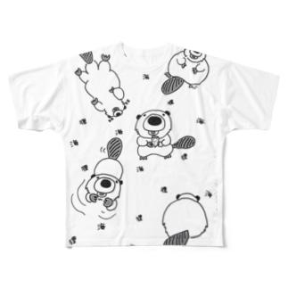 ビーバーくんの1日 Full graphic T-shirts