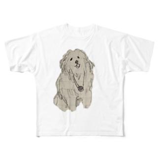 タイムスリップしたことありそうなイッヌ Full graphic T-shirts