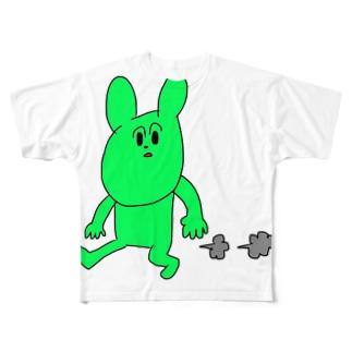 小走り Full graphic T-shirts