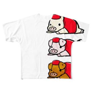 かんれき Full graphic T-shirts