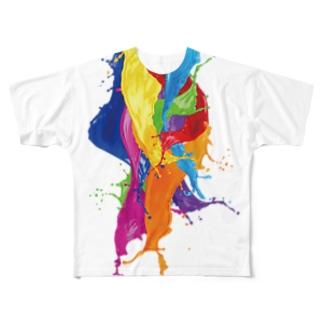 カラフルなペンキがバシャ!! Full graphic T-shirts