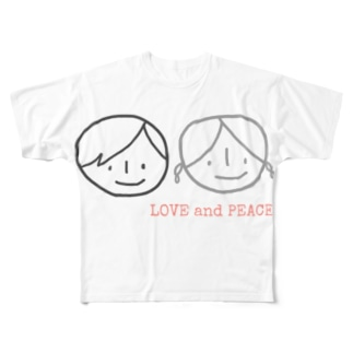 LOVE &PEACE Full graphic T-shirts