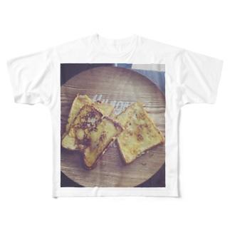 フレンチトースト Full graphic T-shirts