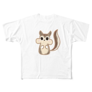 ramu-chanのリスちゃん Full graphic T-shirts