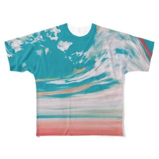夕焼けと空の分岐点 Full graphic T-shirts