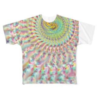 放射中心ずらし Full graphic T-shirts