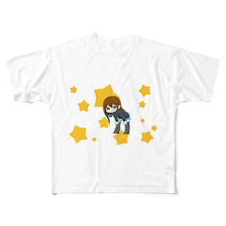 妹子ちゃん Full graphic T-shirts