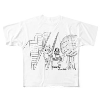 ドラえちゃん Full graphic T-shirts