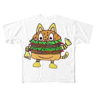 バーガー・ムツゴロウさん Full graphic T-shirts