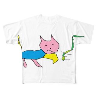 猫マン1 Full graphic T-shirts