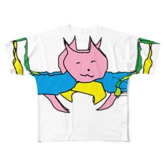 猫マン3 Full graphic T-shirts