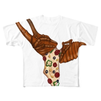 カブトムシピザ Full graphic T-shirts