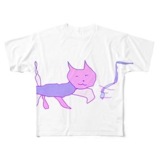 猫マン5 Full graphic T-shirts