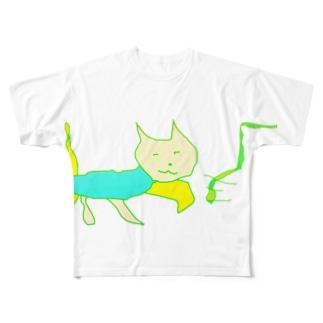 猫マン7 Full graphic T-shirts