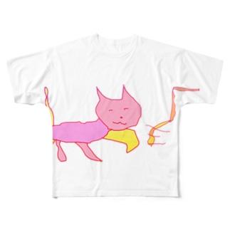 猫マン6 Full graphic T-shirts