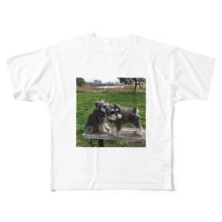 トランプくんとオリバーくん Full graphic T-shirts