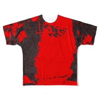 ブラックサンタクロース Full graphic T-shirts