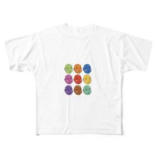 ビーンズちゃん Full graphic T-shirts