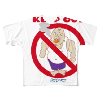 KEEP OUT Full graphic T-shirts