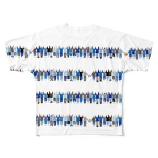 鳥羽の朝市_今浦手を繋ぐ Full graphic T-shirts
