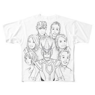 舞台開催記念☆大杉監督描き下ろし集結Tシャツ Full graphic T-shirts