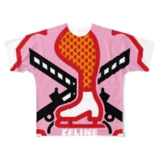 パ紋No.3424 CELINE  Full graphic T-shirts