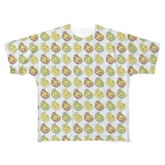アルマジロチェック Full graphic T-shirts