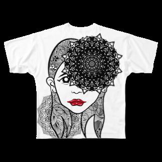 アトリエリトスのセンノカオ Full graphic T-shirts
