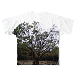 広葉樹 Full graphic T-shirts