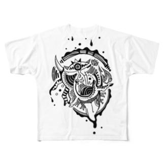 雫×舌 Full graphic T-shirts