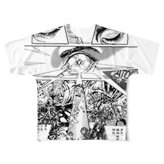 """宮西計三『エレベーション Sa・Yo・Na・Ra』 """"Laser-Eye"""" Full graphic T-shirts"""