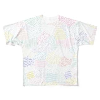 Katieの落書き風グラフィック Full graphic T-shirts