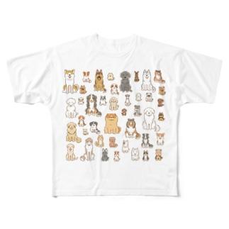ワンコ大集合 Full graphic T-shirts