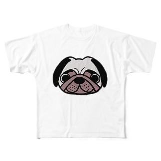 パグおじさんゴロ画伯 Full graphic T-shirts