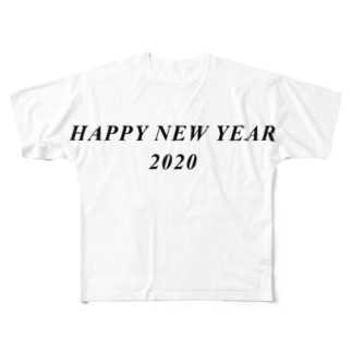 HAPPY NEW YEAR 2020 Full graphic T-shirts