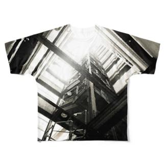 上下不覚 Full graphic T-shirts