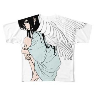 飛べそうな女子 Full graphic T-shirts