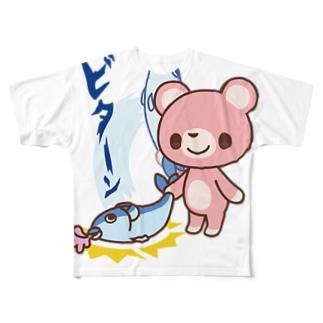 room6のとっとこダンジョンビターン! Full graphic T-shirts