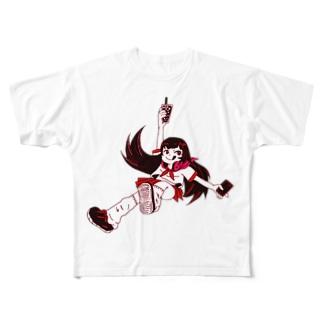 3時のおやつはたぴおか Full graphic T-shirts