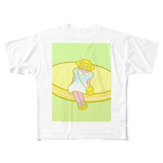 緩やかな上昇 Full graphic T-shirts