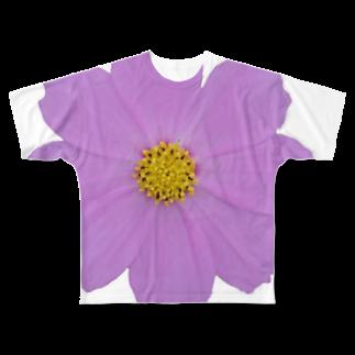 よしなしごとの桃色秋桜 Full graphic T-shirts