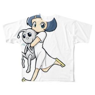 宇宙人を持ち帰る少女 Full graphic T-shirts