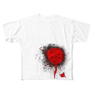 インク漏れ Full graphic T-shirts