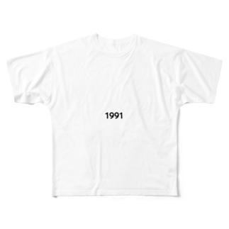 black Full graphic T-shirts