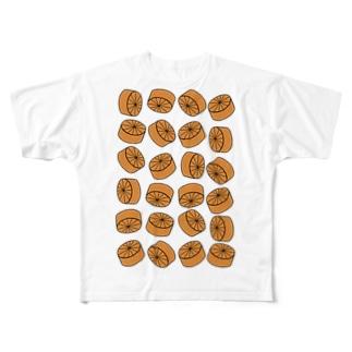 おでん・大根 Full graphic T-shirts
