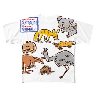 オーストラリアアニマル(500円募金) Full graphic T-shirts