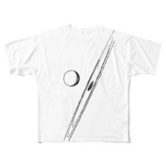 英語でもぽちゃんはぽちゃん Full graphic T-shirts